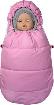 """Конверт для новорожденного Топотушки """"Бемби"""" с капюшоном, розовый"""