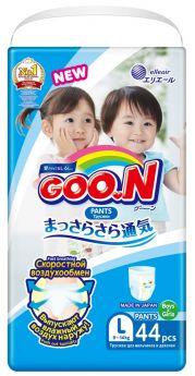 Японские подгузники-трусики Goon Unisex, L 9-14кг, 44шт.