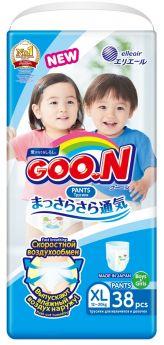 Японские подгузники-трусики Goon Unisex, XL 12-20кг, 38шт.