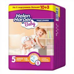 Подгузники Helen Harper Baby Junior, 11-18кг, 13шт.