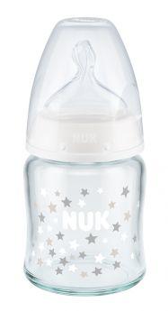 Бутылочка стеклянная First Choice Plus М с силиконовой соской, 120мл
