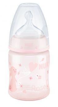 """Бутылочка NUK FС+ Baby Rose M """"Зайчик"""" с силиконовой соской, 150мл"""