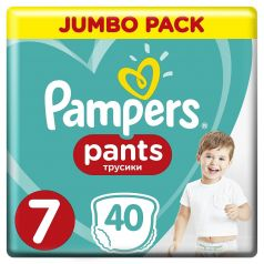 Подгузники-трусики Pampers Pants Size 7 (17+ кг), 40шт.