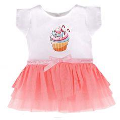 "Одежда для куклы 38-42см Mary Poppins ""Пирожное"": футболка и юбочка"
