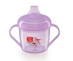 Поильник Happy Baby Training cup с ручками, фиолетовый, 170мл