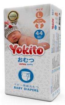 Подгузники на липучках Yokito Premium L (12+ кг), 44шт.