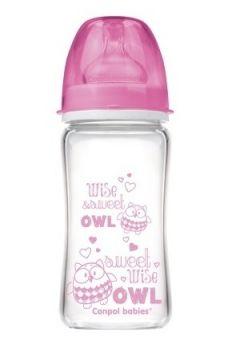 Антиколиковая бутылочка Canpol babies, розовая, 240мл