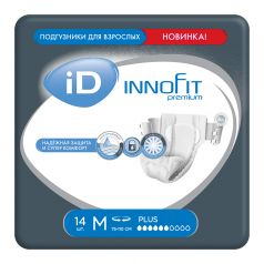 Подгузники для взрослых iD Innofit M, 14шт.