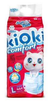 Подгузники-трусики kiOki Comfort Soft L (9-14кг), 44шт.