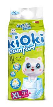 Подгузники-трусики kiOki Comfort Soft XL (12-17кг), 38шт.