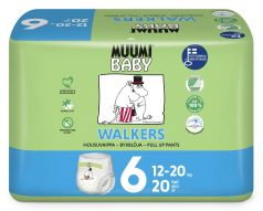Подгузники-трусики Muumi Walkers Junior, 12-20кг, 20шт.