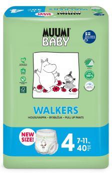 Подгузники-трусики Muumi Walkers, 7-11 кг, 40шт.
