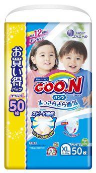 Японские подгузники-трусики Goon Unisex XL 12-20кг, 50шт.