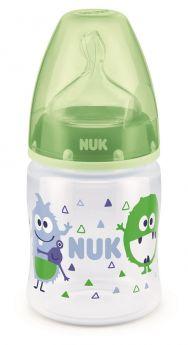 """Бутылочка NUK First Choice Plus М """"Монстры"""" с соской из силикона, 150мл"""