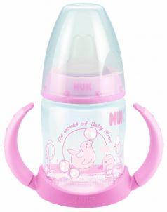 Бутылочка NUK First Choice Plus с ручками, 150мл, розовая