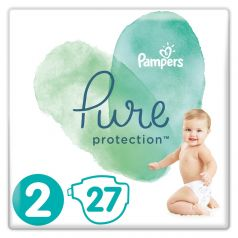 Подгузники Pampers Pure Protection Mini 2 (4-8кг), 27шт.