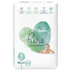 Подгузники Pampers Pure Protection Newborn (2-5кг), 50шт.