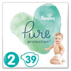 Подгузники Pampers Pure Protection Mini 2 (4-8кг), 39шт.