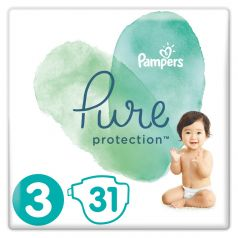 Подгузники Pampers Pure Protection Midi 3 (6-10кг), 31шт.