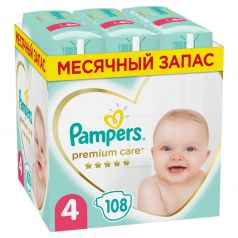 Подгузники Pampers Premium Care Maxi 4 (9-14кг), 108шт.
