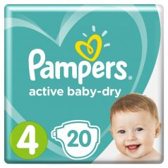 Подгузники Pampers Active Baby-Dry Maxi 4 (9-14кг), 20шт.