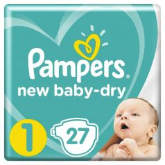 Подгузники Pampers New Baby-Dry Newborn (2-5кг), 27шт.