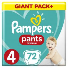 Подгузники-трусики Pampers Pants Maxi 4 (9-15кг), 72шт.