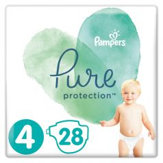 Подгузники Pampers Pure Protection Maxi 4 (9-14кг), 28шт.