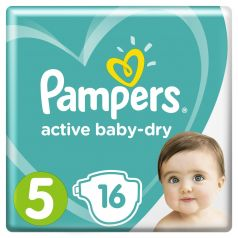 Подгузники Pampers Active Baby-Dry Junior 5 (11-16кг), 16шт.