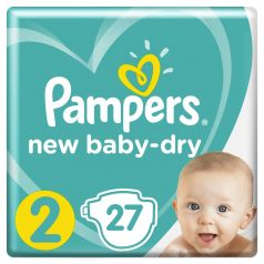 Подгузники Pampers New Baby-Dry Mini 2 (4-8кг), 27шт.