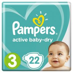 Подгузники Pampers Active Baby-Dry Midi 3 (6-10кг), 22шт.