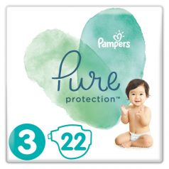 Подгузники Pampers Pure Protection Midi (6-10кг), 22шт.