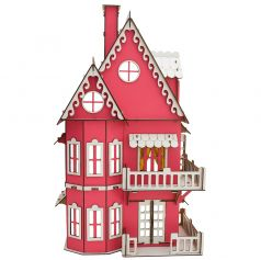 """Сборный кукольный домик Эlen Toys """"Розовая мечта"""""""