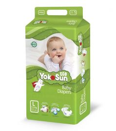Детские подгузники YokoSun Eco L (9-13кг), 50шт.