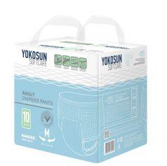 Подгузники-трусики для взрослых YokoSun М (80-120см), 10шт.