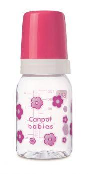 Бутылочка Canpol babies 3+ с силиконовой соской, 120мл, розовая