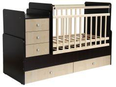 Кровать детская Фея 1100, венге-клен