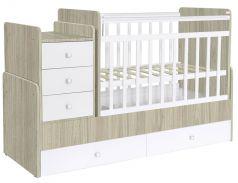 Кровать детская Фея 1100, вяз-белый