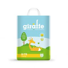 Подгузники Lovular Giraffe S (3-8кг), 72шт.