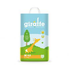 Подгузники Lovular Giraffe M (6-11кг), 62шт.