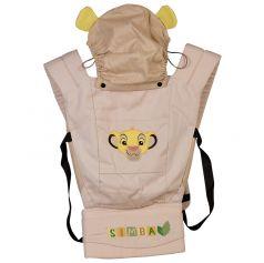 """Рюкзак-кенгуру Polini kids Disney baby """"Король Лев"""" с вышивкой, бежевый"""