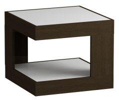 Стол журнальный LS 746, Венге, стекло белое