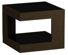 Стол журнальный LS 746, Венге, стекло черное