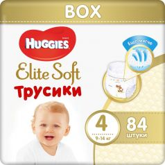 Трусики Huggies Elite Soft 4, 9-14кг, 84шт.