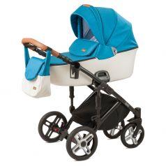Детская коляска 2 в 1 Nuovita Carro Sport, морской/белый