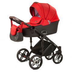 Детская коляска 2 в 1 Nuovita Carro Sport, красный/черный