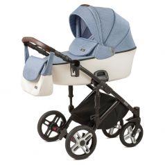 Детская коляска 2 в 1 Nuovita Carro Sport, джинсовый/белый