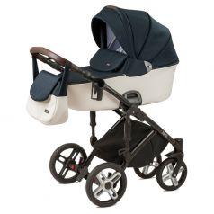 Детская коляска 2 в 1 Nuovita Carro Sport, синий/белый