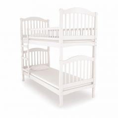 Двухъярусная кровать Nuovita Altezza Due Bianco, белая