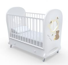 Детская кровать Nuovita Stanzione Honey Bear Swing, белая